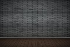 Sitio oscuro de la pared de ladrillo Imagen de archivo