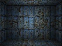 Sitio oxidado del metal interior foto de archivo libre de regalías