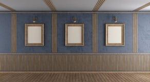 Sitio púrpura vacío con el marco en blanco ilustración del vector