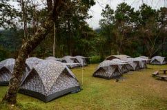 Sitio para acampar Foto de archivo