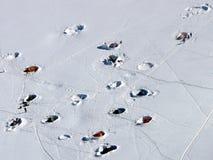 Sitio para acampar alpino Fotos de archivo