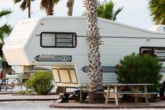 Sitio para acampar de rv Fotos de archivo