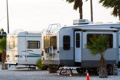 Sitio para acampar de rv Fotografía de archivo