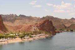 Sitio para acampar de rv en el Colorado más inferior Imagen de archivo libre de regalías