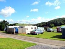 Sitio para acampar del país, Devon Foto de archivo