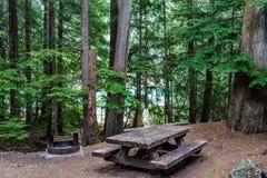 Sitio para acampar del parque nacional de las cascadas del norte fotos de archivo libres de regalías