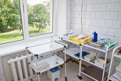 Sitio para los procedimientos médicos Foto de archivo libre de regalías
