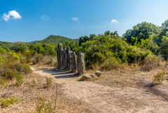 Sitio prehistórico olvidado en las colinas de Córcega - 5 Fotografía de archivo