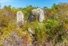Sitio prehistórico olvidado en las colinas de Córcega - 6 Foto de archivo