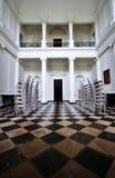 Sitio principal con el piso a cuadros en la casa majestuosa de Russborough, Irlanda Imagen de archivo