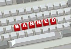 Sitio prohibido Foto de archivo libre de regalías