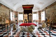 Sitio real del trono fotografía de archivo