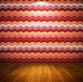 Sitio retro con el papel pintado ondulado Fotografía de archivo libre de regalías