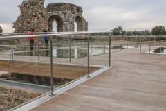 Sitio romano de Caparra, Caceres, España Foto de archivo