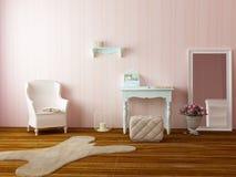 Sitio rosado acogedor ligero Fotos de archivo