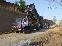 Sitio rural de la construcción de carreteras Imagenes de archivo