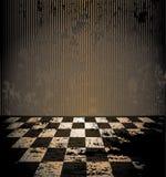 Sitio sucio con el suelo a cuadros libre illustration