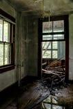 Sitio típico del centro turístico - centro turístico abandonado Foto de archivo libre de regalías
