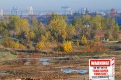 Sitio tóxico Sacramento del wast de Superfund Fotografía de archivo