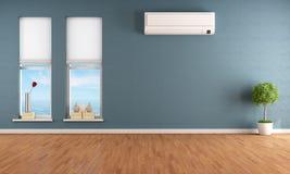 Sitio vacío azul con el acondicionador de aire libre illustration