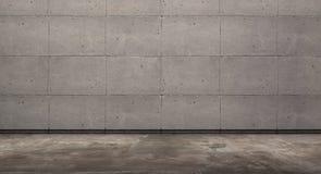 Sitio vacío con el muro de cemento y el piso del grunge, representación 3d fotografía de archivo libre de regalías