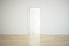 Sitio vacío con una puerta abierta libre illustration