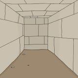 Sitio vacío de la mazmorra ilustración del vector
