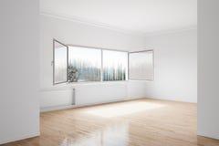 Sitio vacío del invierno Imagen de archivo