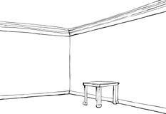 Sitio vacío resumido con la tabla stock de ilustración
