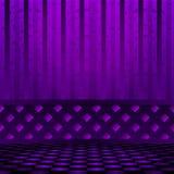 Sitio violeta vacío con el piso del ajedrez Vector, EPS 10 Fotos de archivo libres de regalías