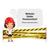 Sitio web bajo mensaje de la construcción Fotografía de archivo libre de regalías