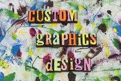 Sitio web de encargo del diseño de gráficos fotos de archivo libres de regalías