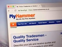 Sitio web de MyHammer Foto de archivo