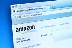 Sitio web del Amazonas Fotografía de archivo libre de regalías