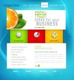 Sitio web del negocio de la plantilla del vector Fotografía de archivo libre de regalías