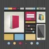 Sitio web Elementos planos del diseño stock de ilustración