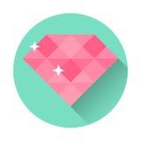 Sitio web plano del ejemplo del vector del icono del diamante Imágenes de archivo libres de regalías