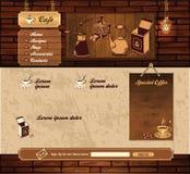 Sitio web retro del grunge del café Imágenes de archivo libres de regalías