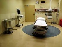 Sitio y cama de hospital Fotografía de archivo libre de regalías