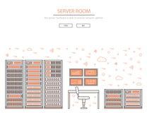 Sitio y centro de datos del servidor Fotos de archivo libres de regalías