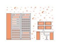 Sitio y centro de datos del servidor Imagen de archivo libre de regalías
