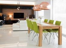 Sitio y sala de estar de Dinning Foto de archivo