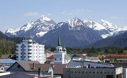 Sitka. The view of Sitka downtown, Alaska stock photos
