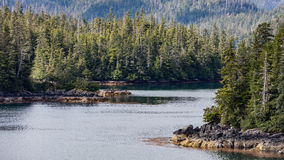 Sitka, Alaska. Forest and coastline near Sitka, Alaska Stock Photo