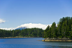 Sitka Alaska Mountains Royalty Free Stock Photos