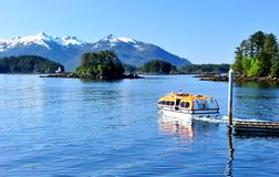 Sitka, Alaska. View of Crescent Harbor and beautiful town of Sitka, Alaska Stock Photography