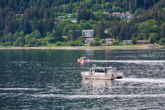 Sitka Ferry in Juneau. Sitka Ferry crossing channel in Juneau Stock Photo