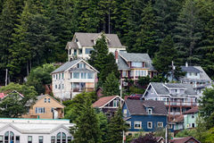 Sitka Homes. Many lovely homes in  Sitka, Alaska Royalty Free Stock Image