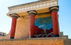 Sito antico di Cnosso in Creta Fotografia Stock