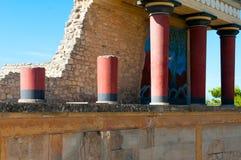 Sito antico di Cnosso in Creta Fotografie Stock
